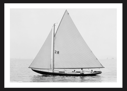 Vintage Sailboats  El Chico - 1892 - Art Prints  for Home & Office Interiors