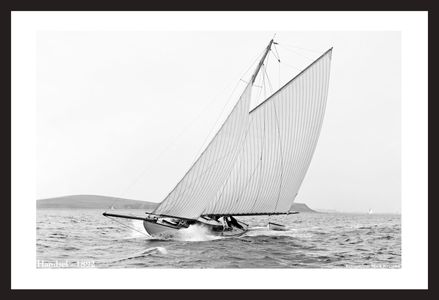 Handsel -1892 - Vintage sailing photography art print restoration