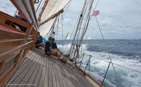 On the Deck of Herreshoff Classic Schooner Mariette