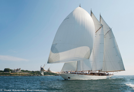 Schooner Adix at the Finish of the Candy Store Cup Newport, RI