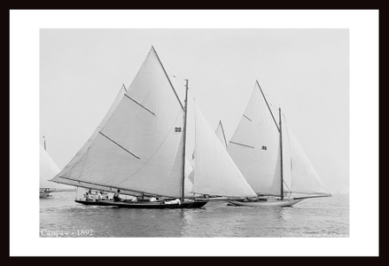 Vintage Sailboats - Restored Art Prints for Home & Office - Catspaw 1892