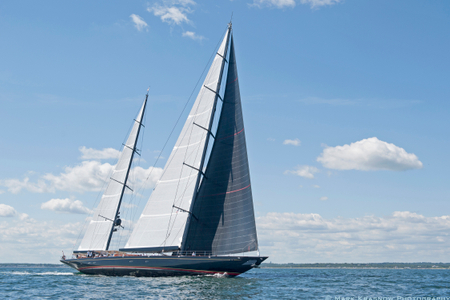 Superyacht Marie at the Newport Bucket Regatta in Newport, RI 2014