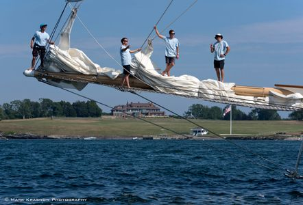 On the Bowsprit - Schooner Adix at the Candy Store Cup Newport RI