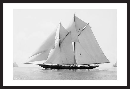 Vintage Sailboats - Ariel - 1894 - Historic art print restoration