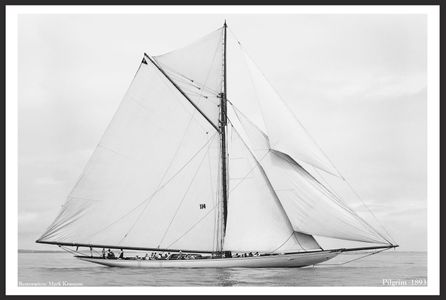 America's Cup - Vintage Sailboats - Pilgrim - 1893 - Restored Art Prints for Home & Office Interiors