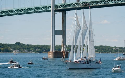 Sailboat Arabella at Parade of Sail in Newport