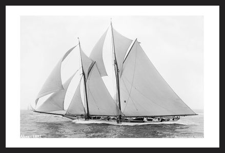America's Cup - Vintage Sailboats - Alcea -1892 - Art Prints  for Home & Office Interiors
