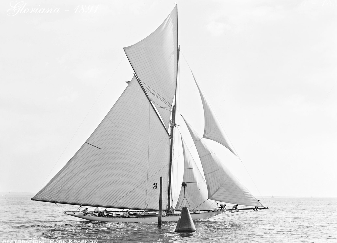 Gloriana - 1891 - Vintage Sailing Art Print Restoration