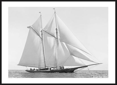 Foam - Late 1800's -Vintage Art Print Sailboat Photo