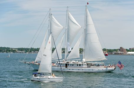 Schooner Arabella at Parade of Sail in Newport RI art print