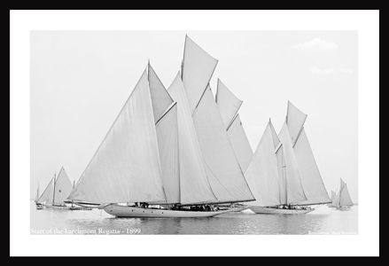 Vintage Sailboats Photo Restoration Art Print - 1899