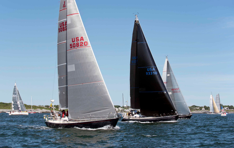 Finesse Triple Lindy and Carina at the Newport to Bermuda Start 2016