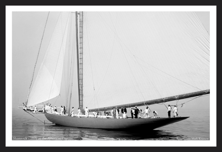America's Cup - Vintage Sailboat at print restoration
