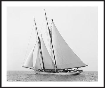 America's Cup - Gitana - 1892 - Vintage Sailboat Art Print