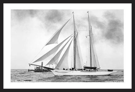Her Royal Highness - 1893 - Vintage Sailing Restored Art Prints