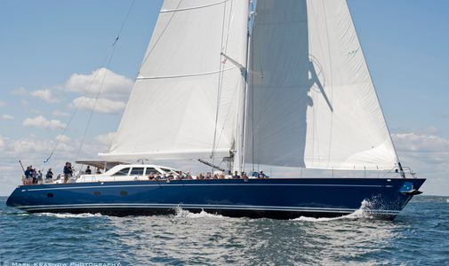 Superyacht Kawil at the Newport Bucket Regatta in Newport, RI 2014