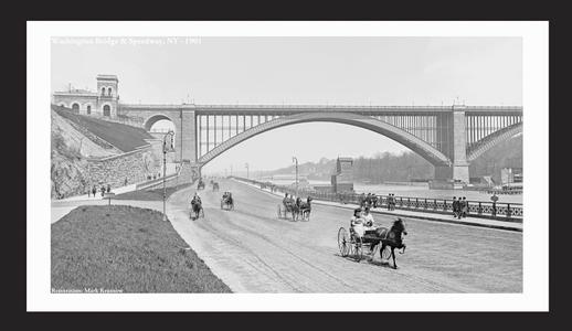 Washington Bridge and Speedway, NY 1901