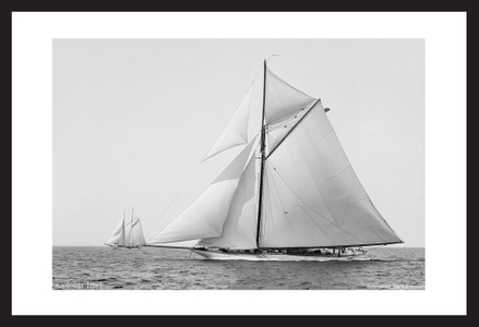 Colonia - 1895 - Vintage sailing photography art print restoration