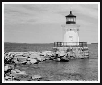 Portland Breakwater Lighthouse in Maine