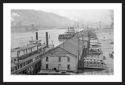 Monongahela Wharves, Pittsburg, PA - Early 1900s