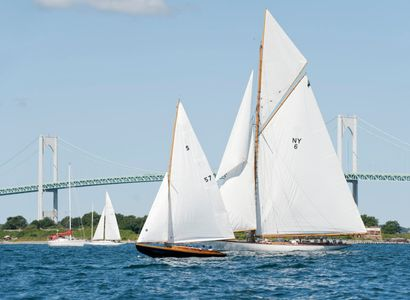 Herreshoff S Boat and Spartan NY50 at the Museum of Yachting IYRS Regatta