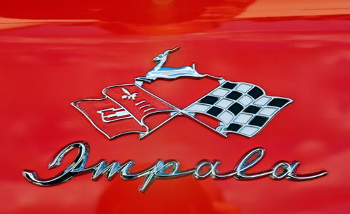 Chevy Impala classic logo art print