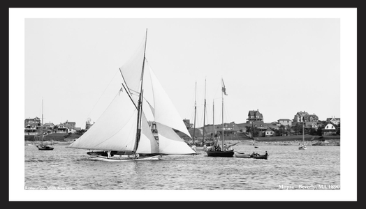 Mopsa 1890 - Beverly, MA - Vintage Sailing Prints