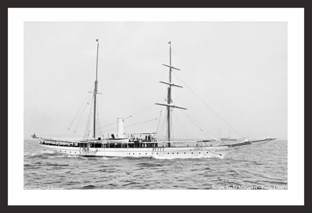 Vintage Yachting - Steam Yacht Margaret - Early 1900's - Restored Art Prints for Home & Office