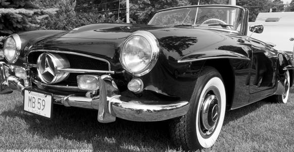 1959 Mercedes Sports Car at Misselwood Car Show