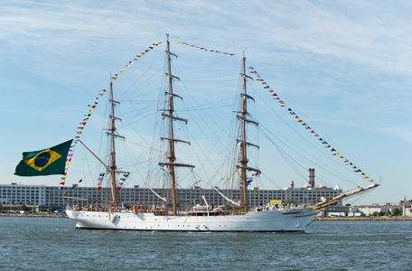 Schooner Cisne Branco of Brazil at Parade of Sail Boston