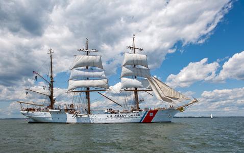 US Coast Guard Eagle at Sail Boston