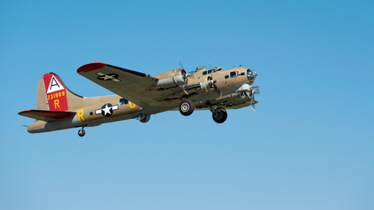 Flying Fortress -B17  in Beverly, Collings Foundation Wings of Freedom Tour