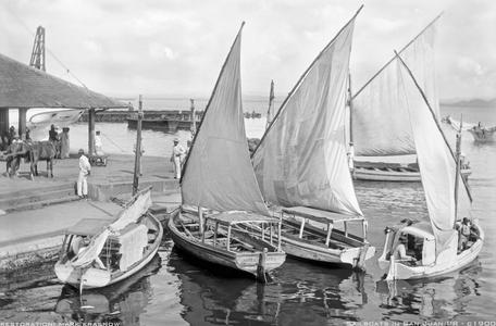 Vintage Restored Sailing Art Print - San Juan Early1900