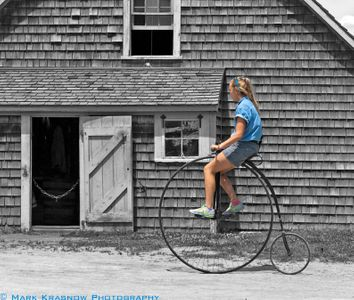 Out for a Bike Ride at Mystic Seaport  in Mystic, CT