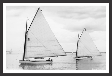 Vintage Sailing - Dot & Kit - 1899 - Vintage Sailboats for Home & Office Interiors