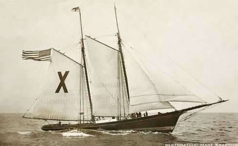 Ship X Pilot Boat - Vintage Restored Sailing Art Print