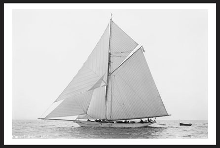Ilderim - 1892 - Vintage Sailboat Art Print