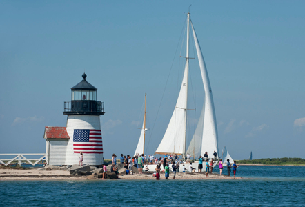 Black Watch approaching Brant Point Light after the Opera House Cup 2015- Nantucket, MA