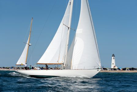 Black Watch  Passing  Great Point Light in Nantucket, MA 2017