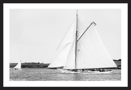 Fanny - Late 1800s - Vintage Art Print Sailboat Restoration