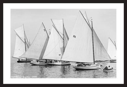 Dorchester Regata - 1888  - Vintage sailing photography art print restoration