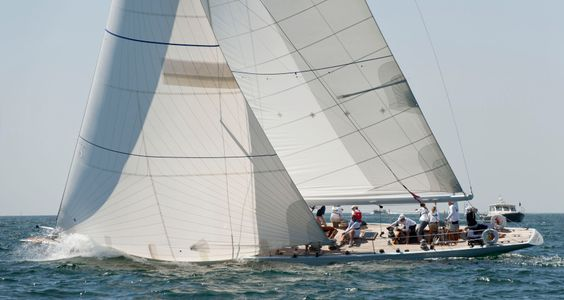 Columbia 12 Metre Yacht at the Opera House Cup, Nantucket, MA
