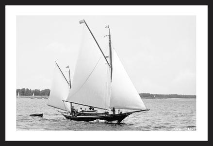 Kwasind  - 1895 - Vintage Sailboats - Vintage Sailing Restoration Art Print
