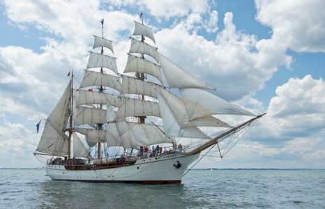 Barque Europa in Boston Harbor art print