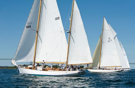 Ticonderoga and 12 Metre Gleam at the Museum of Yachting - IYRS Regatta in Newport, RI