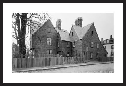 House of the Seven Gables, Salem, MA - c1915 - historic black & white photography art print