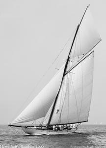 Rainbow - 1900 - Vintage Sailing Art Print Restoration
