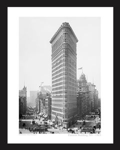 Flatiron building, New York, - 1903 - vintage art print restoration