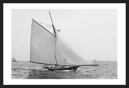 Sloop Helen -18924 - Vintage sailing photography art print restoration