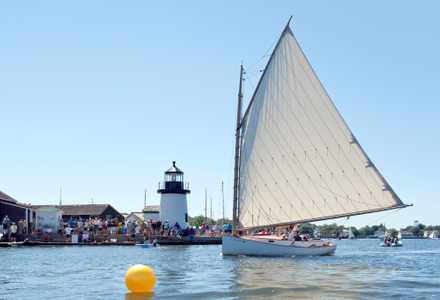 Breck Marshall Catboat at Mystic Seaport  in Mystic, CT